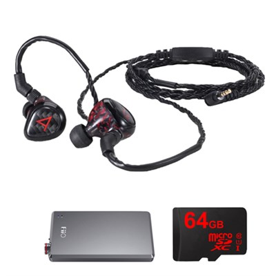 JH Audio Special Edition Angie Headphones, Red w/ FiiO A5 Amps Bundle
