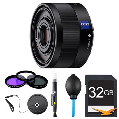 Sonnar T* FE 35mm F2.8 ZA Camera E-Mount Lens Bundle