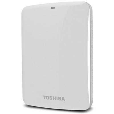 Canvio Connect 1TB Portable Hard Drive, White (HDTC710XW3A1)