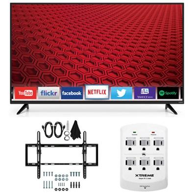 E60-C3 - 60-inch 120Hz 1080p LED Smart HDTV Flat & Tilt Wall Mount Bundle