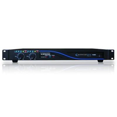 SLIMPRO3000 1U Professional Power Amplifier Black