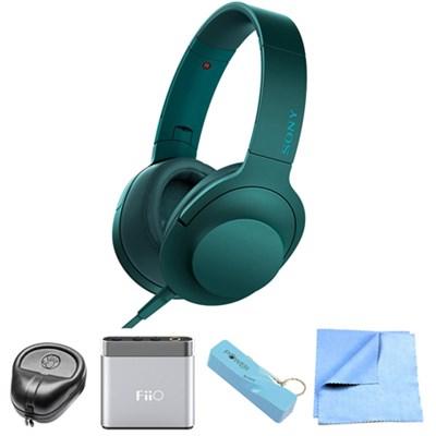 Premium Hi-Res On-Ear Stereo Headphone Blue - MDR100AAP/L w/ FiiO A1 Amp. Bundle