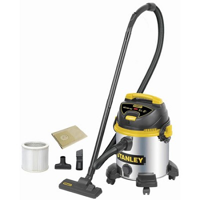 Pro Stainless Steel Series Horsepower 8 Gallon Wet/Dry Vacuum Cleaner