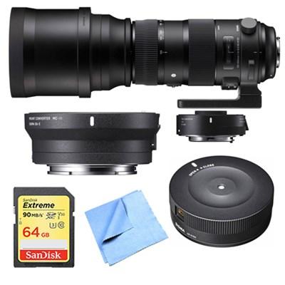 150-840mm F5-6.3 Sports Lens, Teleconverter, Dock for Canon/Sony E Mount