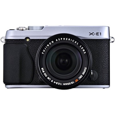 X-E1 16.3MP Digital Camera with 18-55mm Lens - Silver