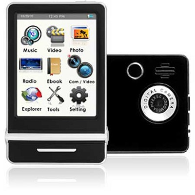 E4 Series - 3` Touch Screen MP3 Video Players 8GB w/ Digital Camera (Black)