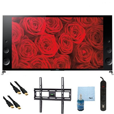65` 120Hz 3D LED X900B Premium 4K Ultra HD TV Mount & HookUp Bundle - XBR65X900B