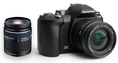 Evolt E-510 10.1MP Digital SLR with 14-42mm and 40-150mm Zuiko Digital Lenses