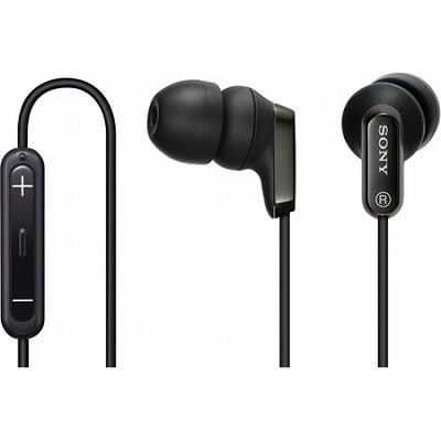 MDR-EX38IP/BLK EX Ear-Bud Headphones with iPod Remote