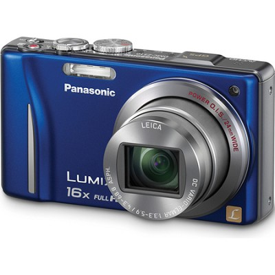 Lumix DMC-ZS10 14.1 MP Blue Camera w/16x Zoom & GPS