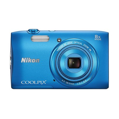 COOLPIX S3600 20.1MP 2.7` LCD Digital Camera  HD Video -Blue Factory Refurbished