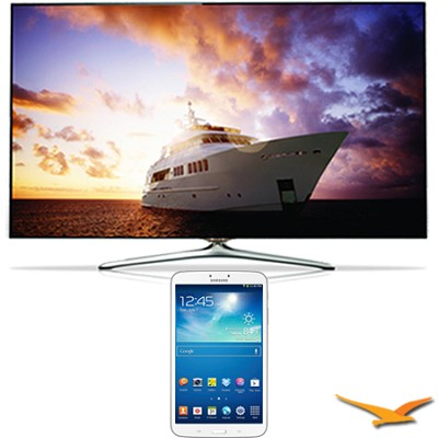 UN46F7500 - 46` 1080p 240hz 3D Smart Wifi LED HDTV with 8` Galaxy Tab 3 Bundle