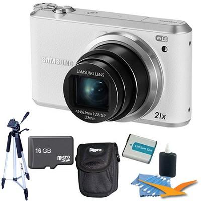 WB350 16.3MP 21x Opt Zoom Smart Camera White 16GB Kit