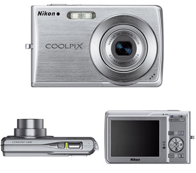 Coolpix S200 Digital Camera (Silver)