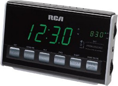 RC10 AM/FM Alarm Clock Radio (Black)