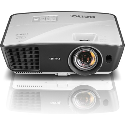 W770ST Short Throw 3D 720p HD DLP Home Theater Projector (Silver) - OPEN BOX