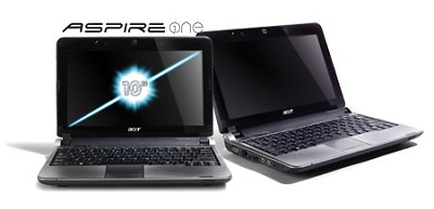 Aspire one 10.1` Netbook PC - Black (AOD250-1624)