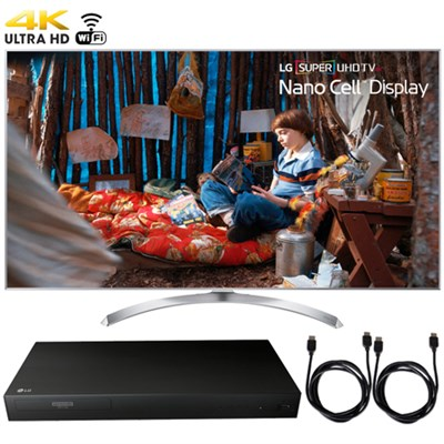 60SJ8000 SUPER UHD 60` 4K HDR Smart LED TV (2017) + Blu-Ray Player Bundle