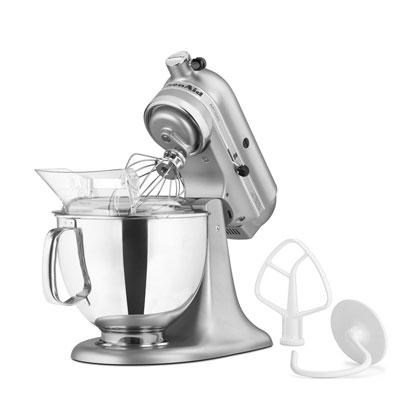 Artisan Series 5-Quart Tilt-Head Stand Mixer in Silver Metallic - KSM150PSSM