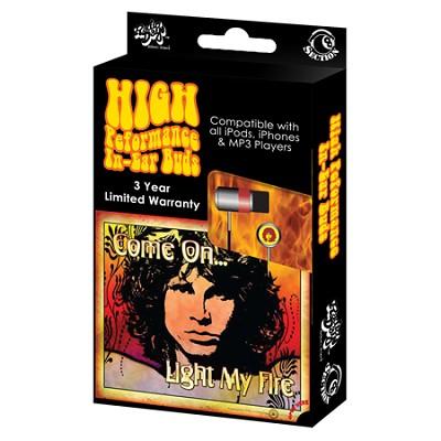RBW-6915 - Jim Morrison (Flames) In-Ear Buds Window Box