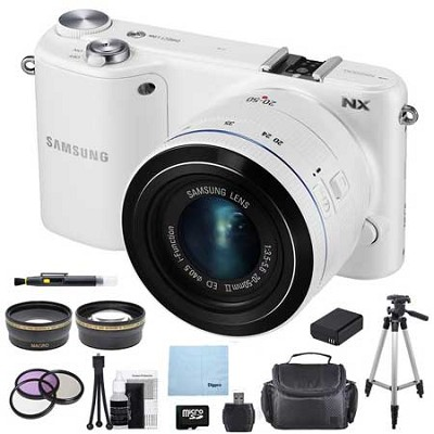 NX2000 20.3MP White Smart Digital Camera with 20-50mm F/3.5-5.6 ED II Lens