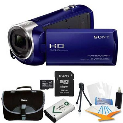 HDR-CX240/L Entry Level Full HD 60p Camcorder Blue Kit
