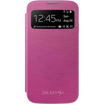 Galaxy S IV S-view Flip Cover Pink