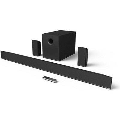 54` 5.1 Home Theater Sound Bar w/ Wireless Subwoofer and Speakers (Black)(S5451)