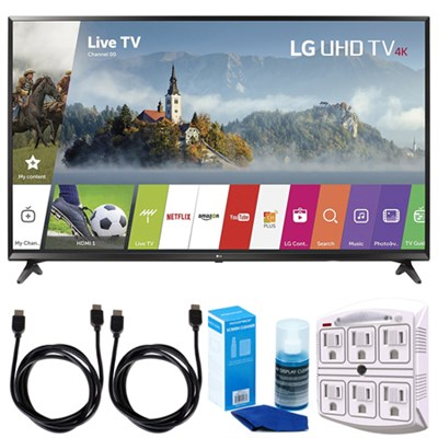 55UJ6300 55-inch 4K Ultra HD Smart LED TV (2017 Model) w/ Accessories Bundle