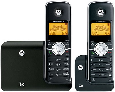 L302 DECT 6.0 Cordless Phone with 2 Handsets - Black