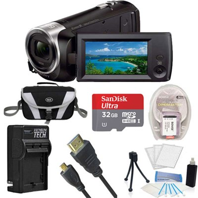 HDR-CX405 HD Video Handycam Camcorder 32GB Memory Card 1600MAH Battery Bundle
