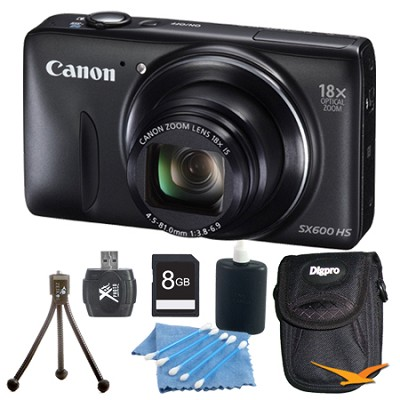 PowerShot SX610 HS 16.1MP 18x Zoom 3-inch LCD Black Kit