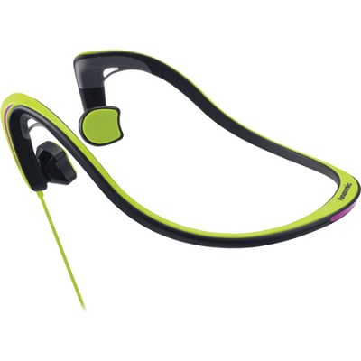 Open-Ear Bone Conduction Headphones with Reflective Design, Green